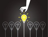 Picking up great idea background