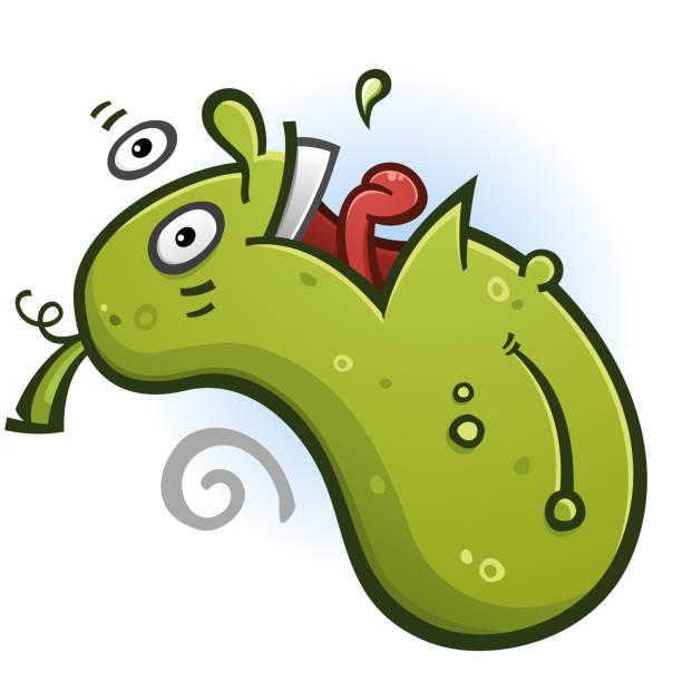 Pickle Cartoon Character Doing a Backflip vector art illustration