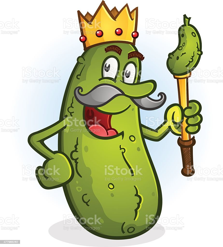 Happy Pickle Clipart Pickle King Cartoon Ch...