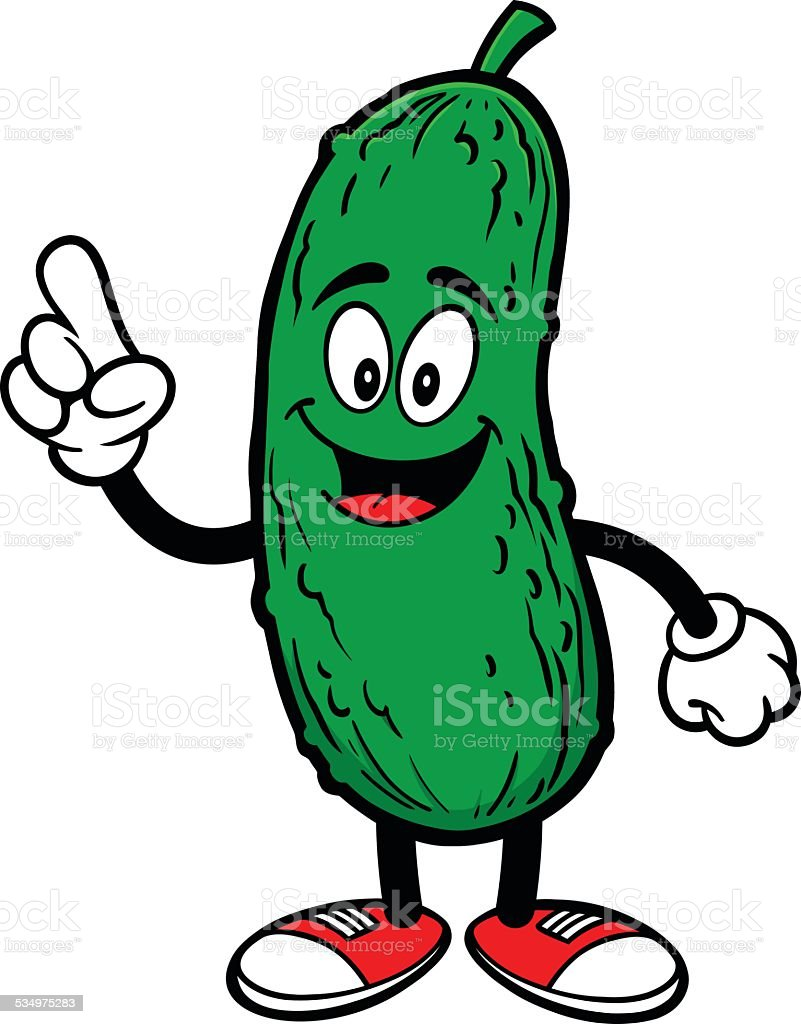 Pickle Talking vector art illustration