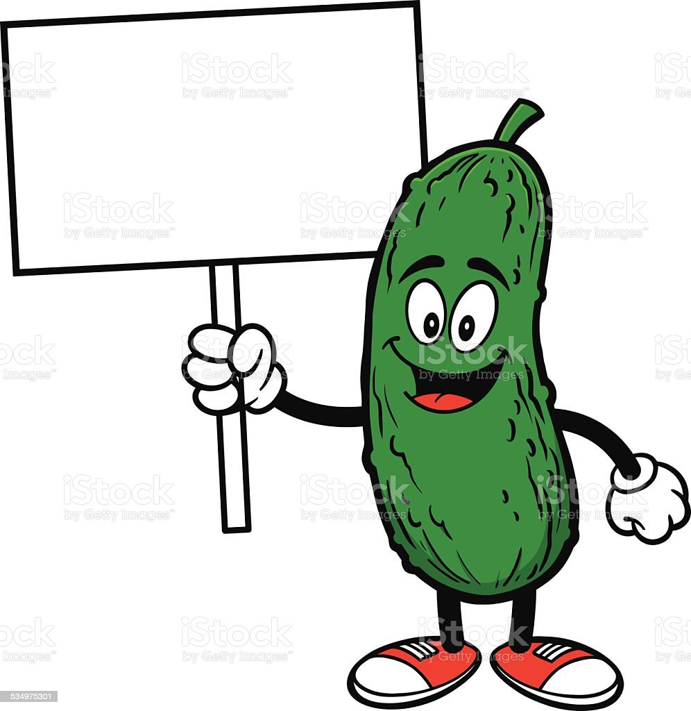 Pickle with Sign vector art illustration