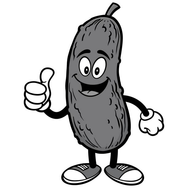 Pickle with Thumbs Up Illustration vector art illustration