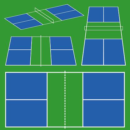 pickleball court game scheme
