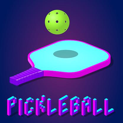 pickleball game vector illustration