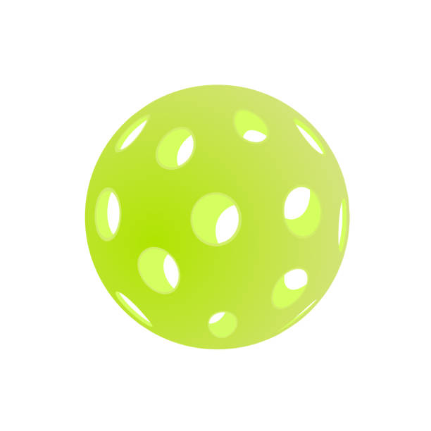 Pickleball vector illustration isolated on white background Green pickleball vector illustration isolated on white background table tennis racket stock illustrations