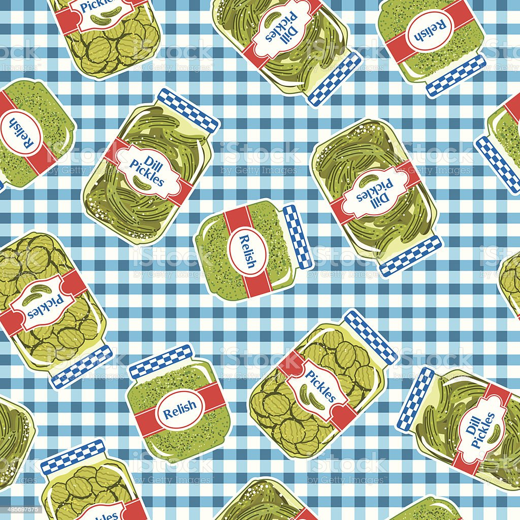 Pickles Seamless Repeating Pattern vector art illustration
