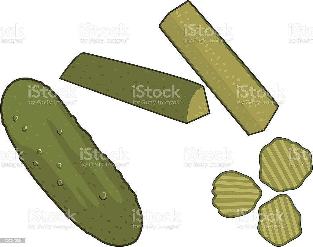 Pickles vector art illustration