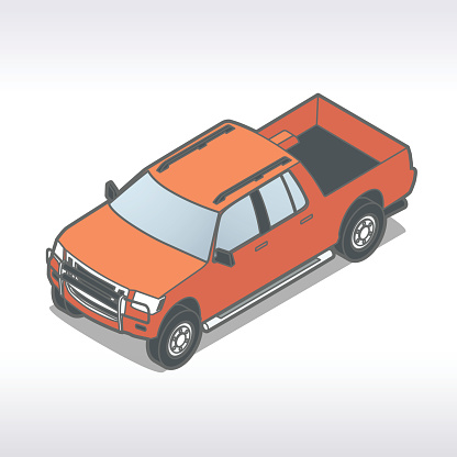 Pickup Truck Illustration