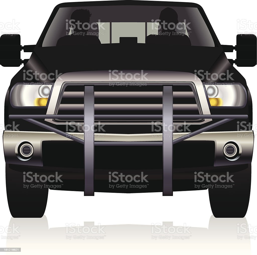 Pick-up Truck vector art illustration