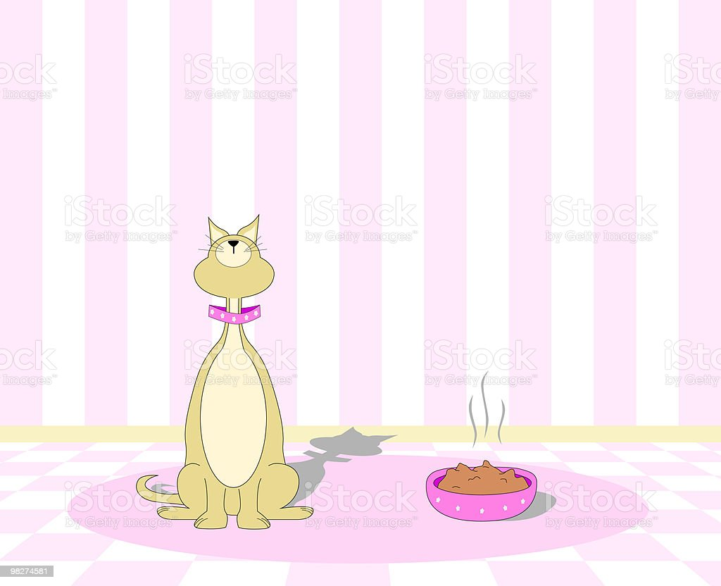 Picky Cat Refusing to Eat royalty-free picky cat refusing to eat stock vector art & more images of accuracy