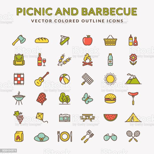 Picnic and barbecue colored outline icons vector id938454974?b=1&k=6&m=938454974&s=612x612&h=afqfljs3 nvwr4ea7g jul cijwtur0vjtis7uiherm=