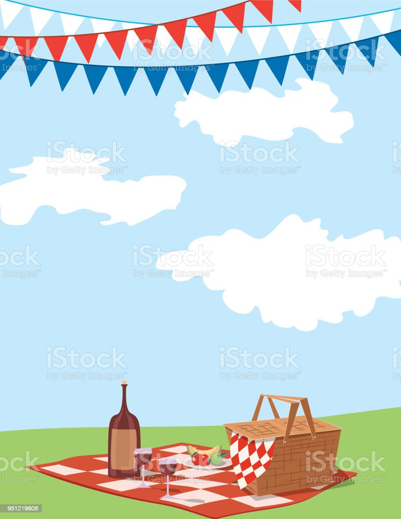 picnic background invitation template royalty free picnic background invitation template stock vector art