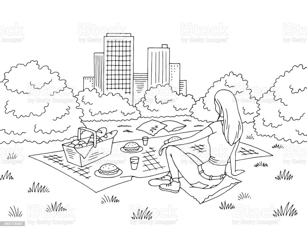 Picnic basket graphic black white park landscape sketch illustration vector royalty-free picnic basket graphic black white park landscape sketch illustration vector stock vector art & more images of adult