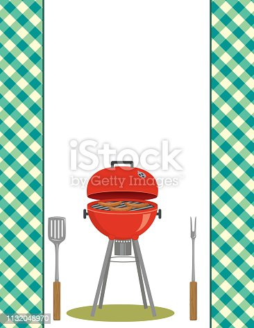 BBQ or picnic background with room for text