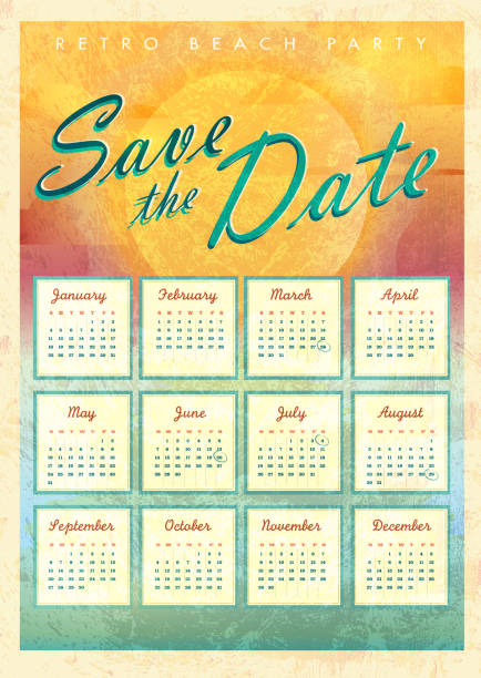 royalty free save the date calendar clip art vector images illustrations istock. Black Bedroom Furniture Sets. Home Design Ideas