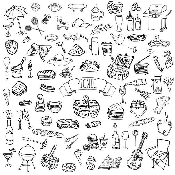 ピクニックアイコンを設定します。 - ピクニック点のイラスト素材/クリップアート素材/マンガ素材/アイコン素材