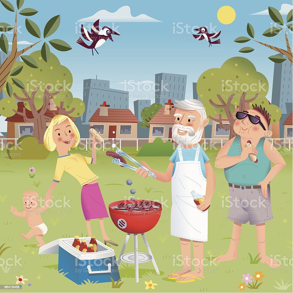 Picnic in the Park royalty-free stock vector art
