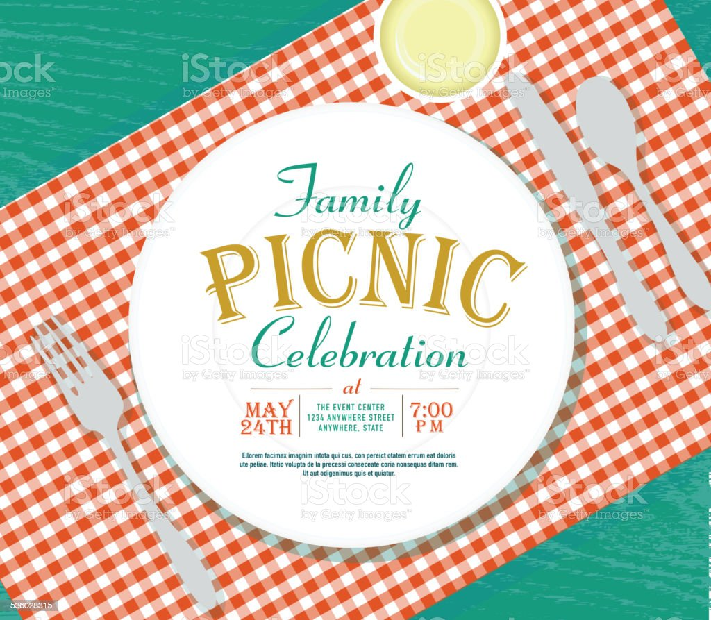 Blue picnic background