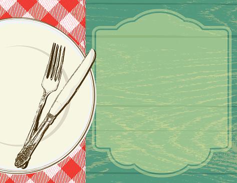 Picnic invitation design template