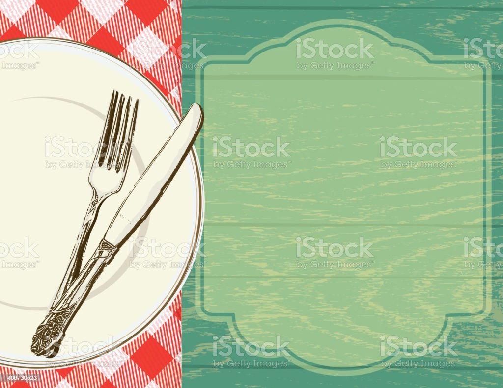 Picnic invitation design template vector art illustration