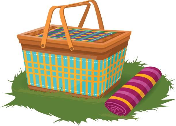 Picnic Basket Graphic : Royalty free picnic basket clip art vector images
