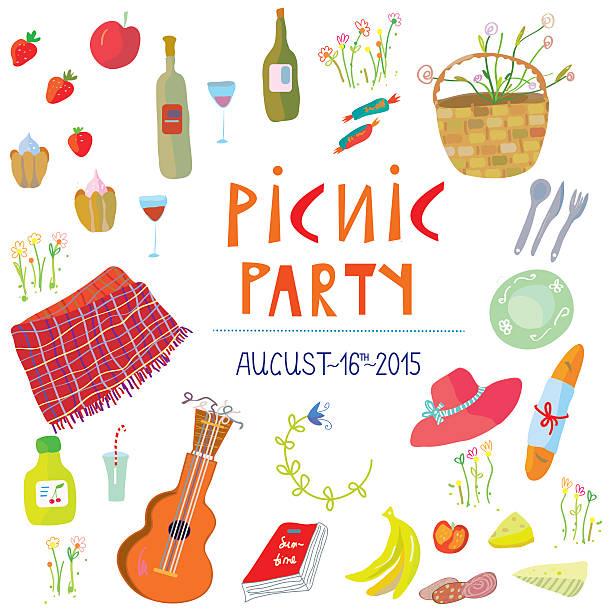 ピクニックパーティのバナーのベクトルイラスト - ピクニック点のイラスト素材/クリップアート素材/マンガ素材/アイコン素材