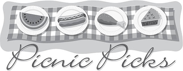 Picnic Picks Heading vector art illustration