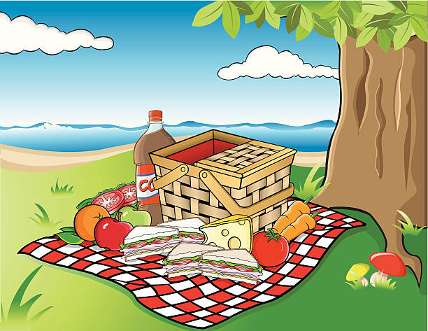 Best Beach Picnic Illustrations, Royalty-Free Vector ...