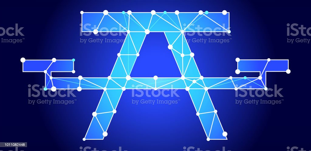 Picnic Table Blue Triangle Node Vector Pattern Stock Vector Art - Triangle picnic table