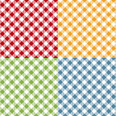 Picnic table cloth seamless pattern set. Picnic plaid texture