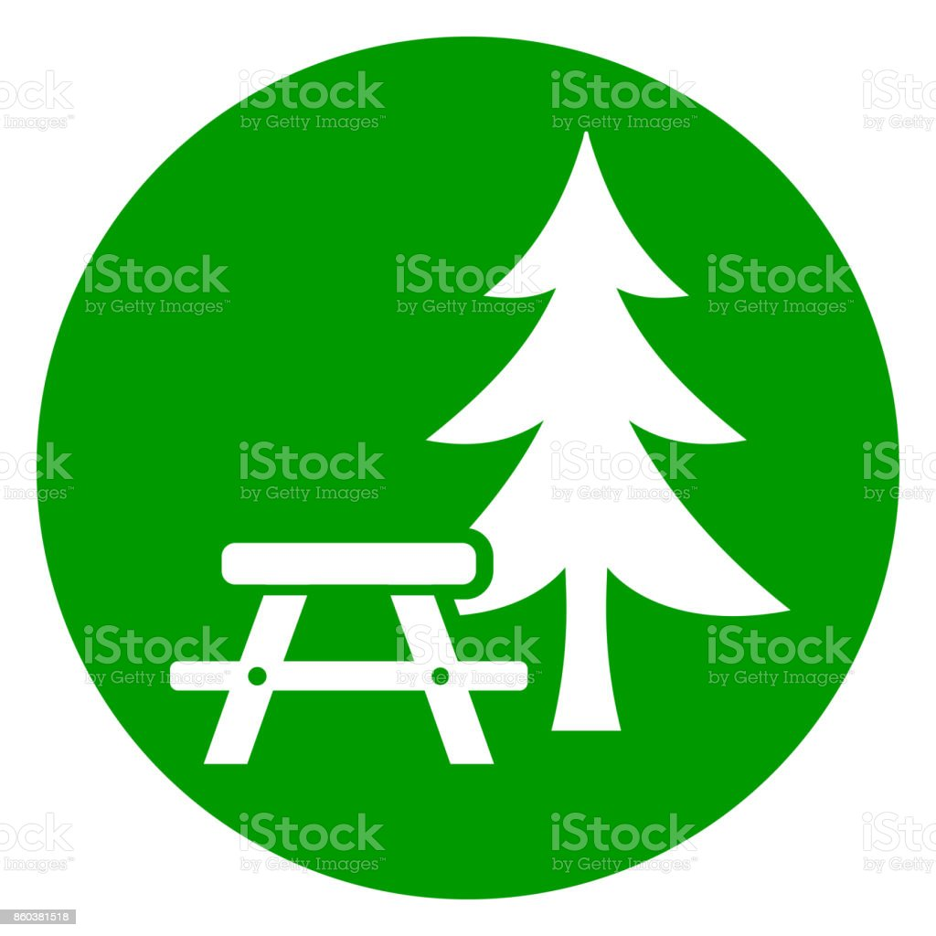 Picnic Table Green Icon Stock Vector Art More Images Of Bench - Spruce picnic table