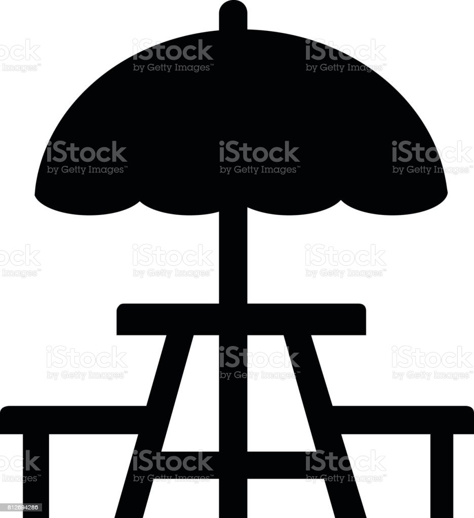Picnic Table Icon Stock Illustration - Download Image Now ...