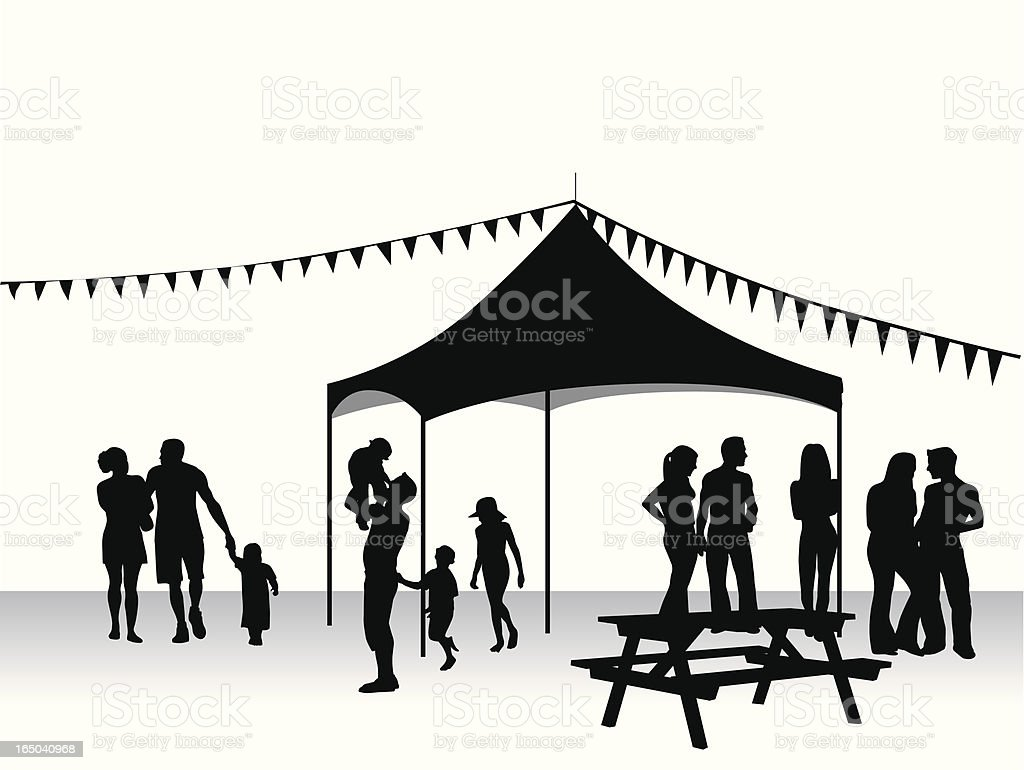 picnic tent vector silhouette stock vector art amp more