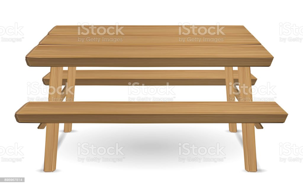 Stainless Steel Bathroom Vanity Cabinet, Picnic Wood Table On A White Background Stock Illustration Download Image Now Istock