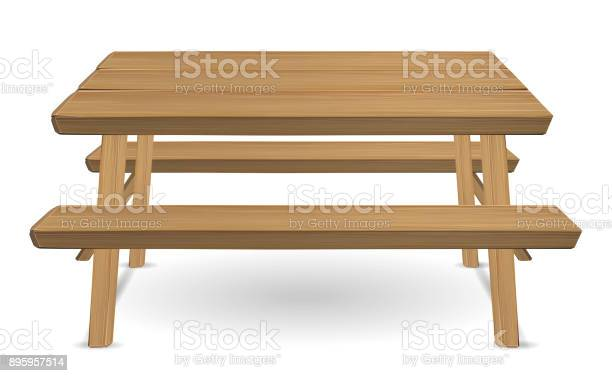 Wooden table isolated on background - Download Free Vectors ...