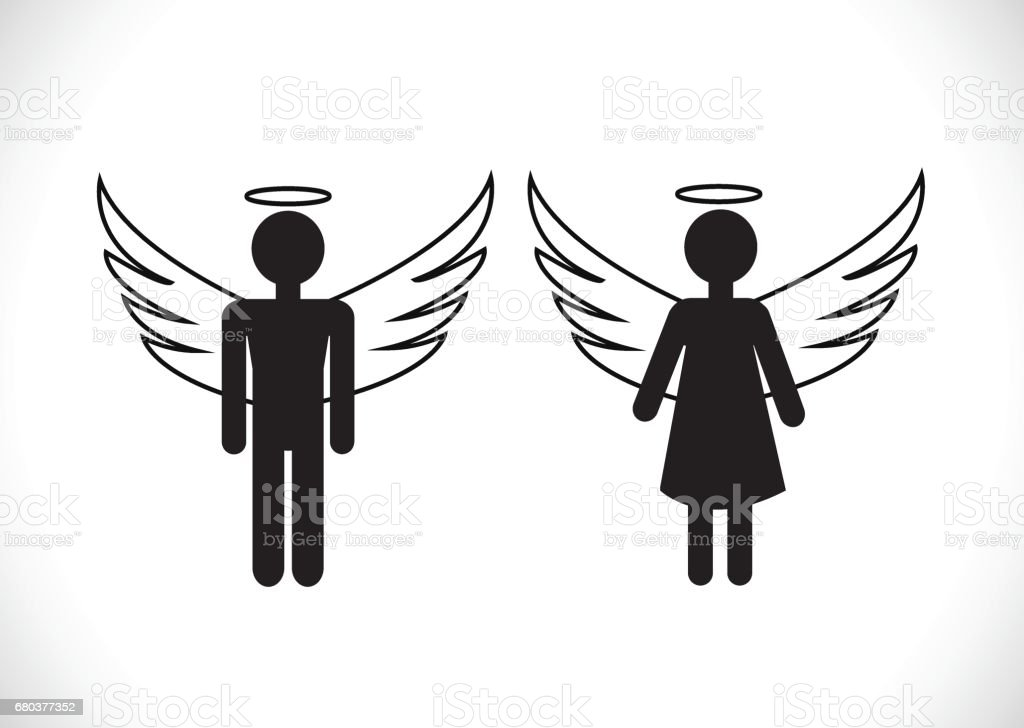 Pictogram  Angel Icon Symbol Sign royalty-free pictogram angel icon symbol sign stock vector art & more images of aggression