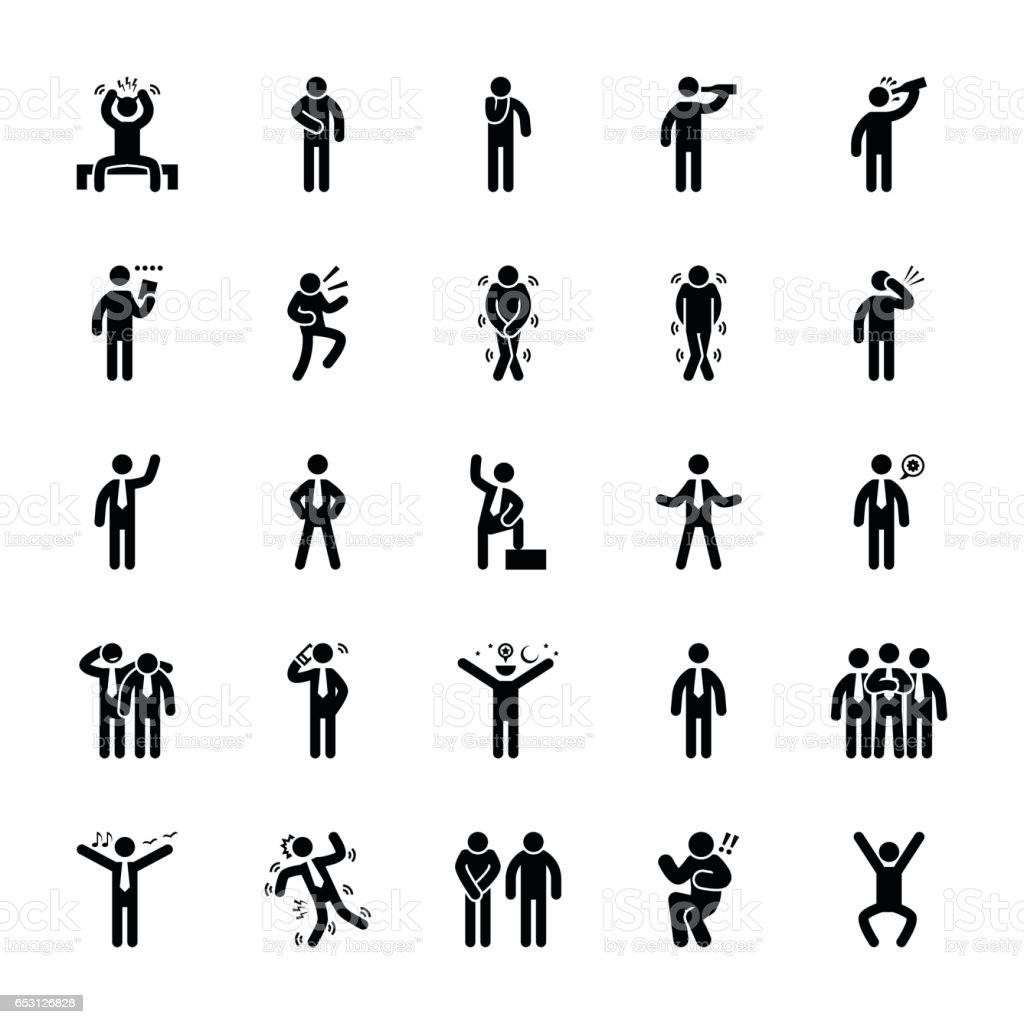 Pictogram Glyphs 23 vector art illustration