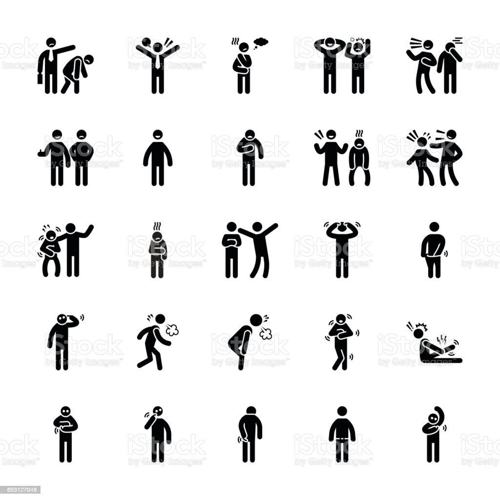 Pictogram Glyphs 27 vector art illustration