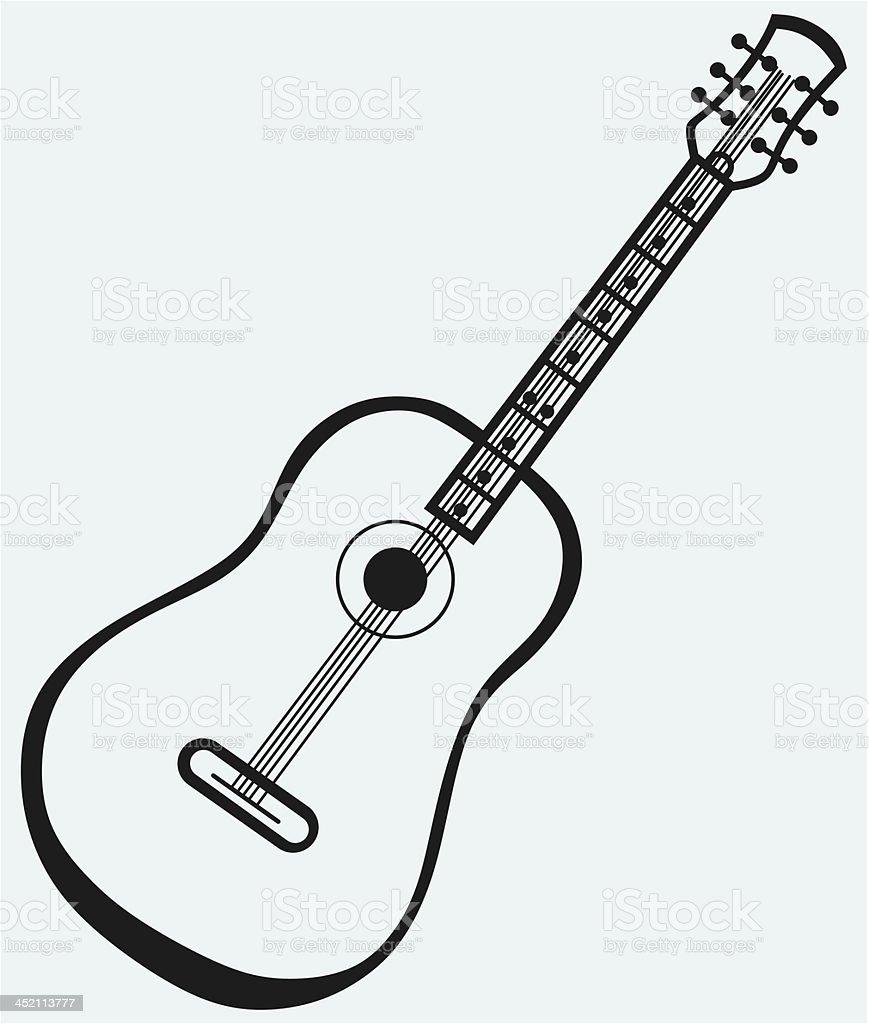 Pictogram guitar royalty-free stock vector art