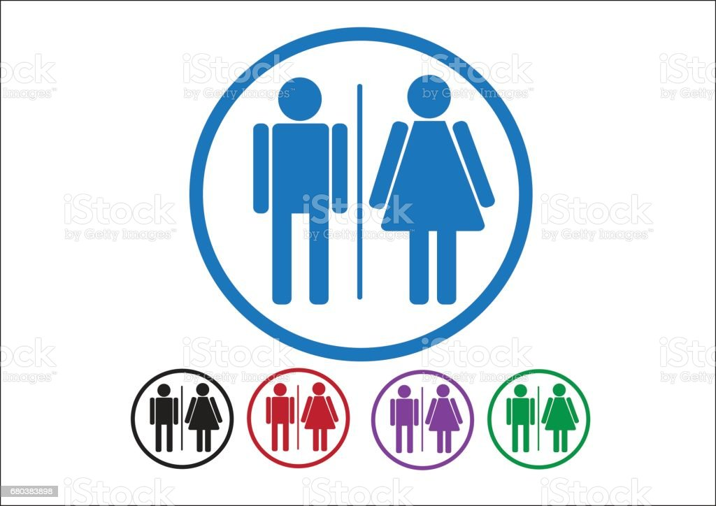 Pictogram Man Woman Sign icons, toilet sign or restroom icon royalty-free pictogram man woman sign icons toilet sign or restroom icon stock vector art & more images of adult