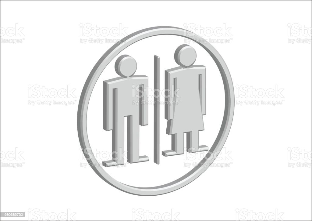 3D Pictogram Man Woman Sign icons, toilet sign or restroom icon royalty-free 3d pictogram man woman sign icons toilet sign or restroom icon stock vector art & more images of adult