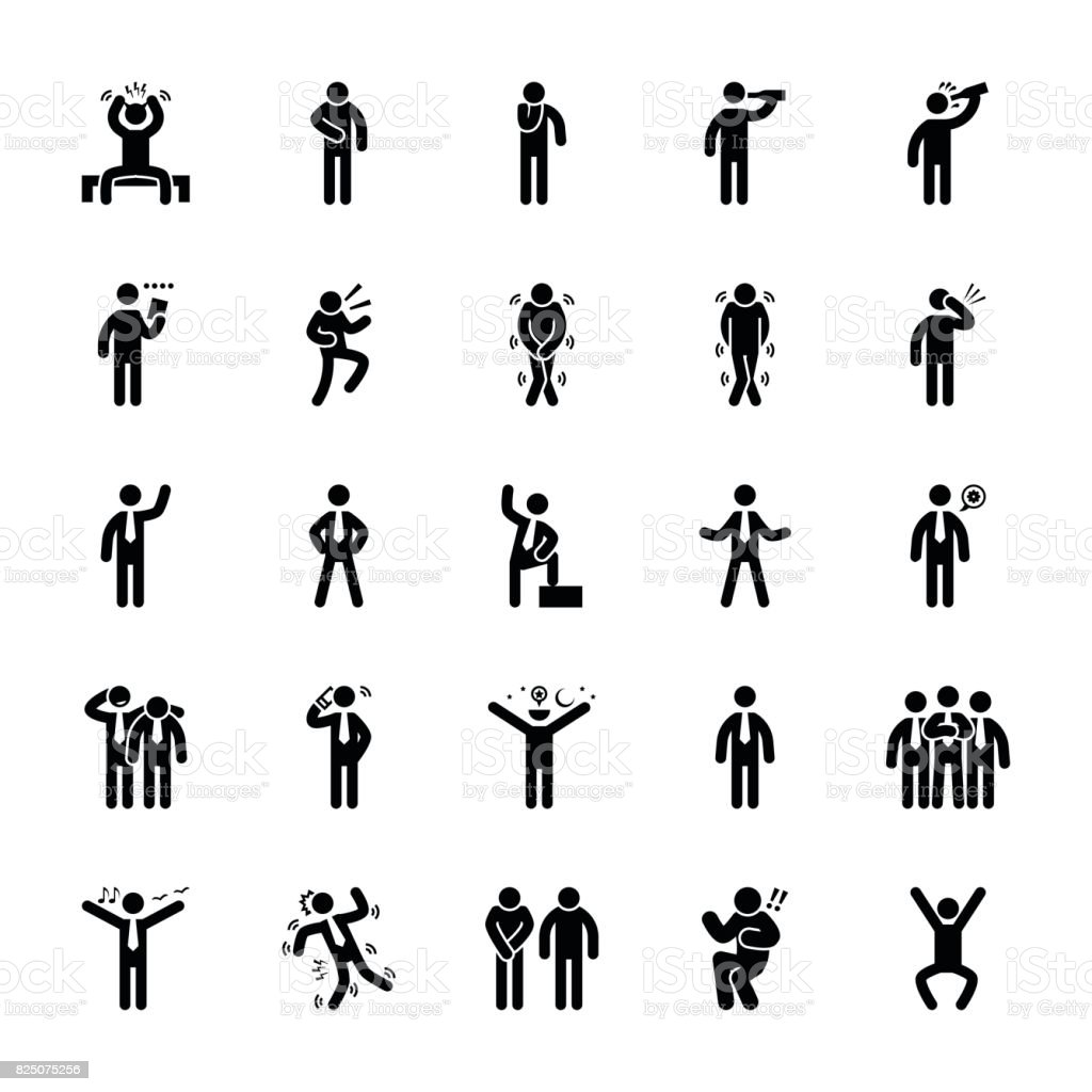 Pictogram Of Everyday Glyphs 23 vector art illustration