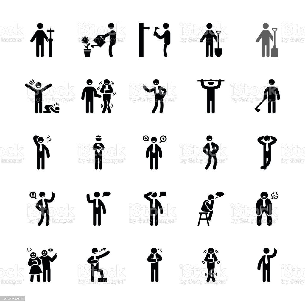 Pictogram Of Everyday Glyphs 26 vector art illustration
