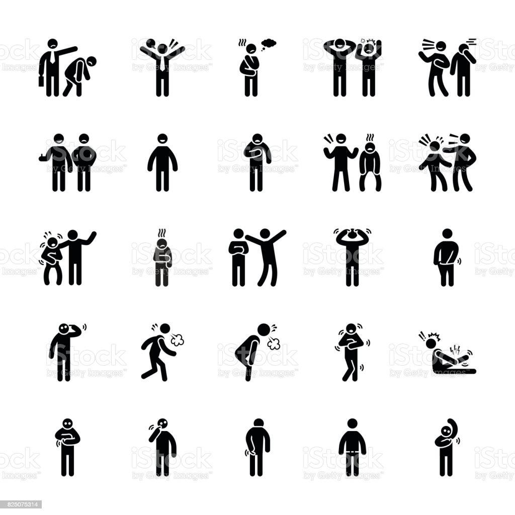 Pictogram Of Everyday Glyphs 27 vector art illustration