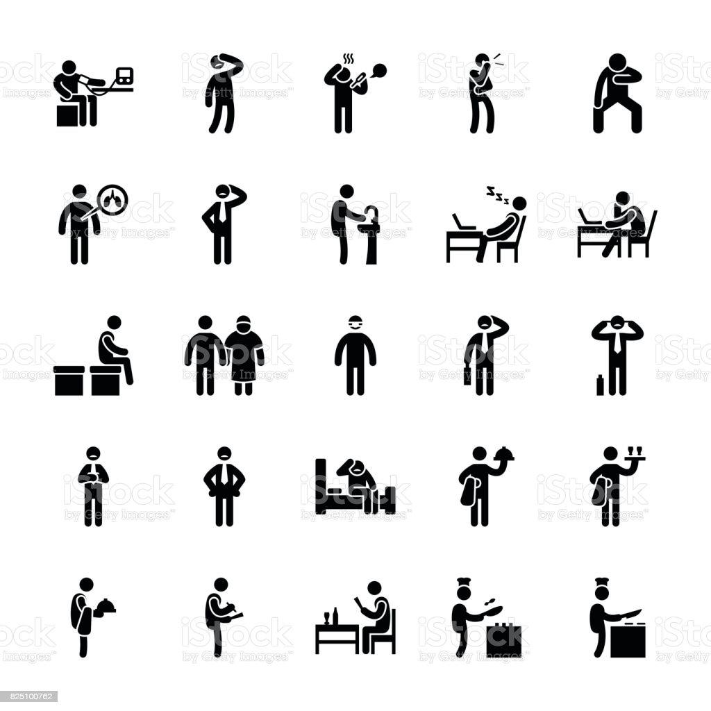 Pictogram Of Everyday Glyphs 51 vector art illustration