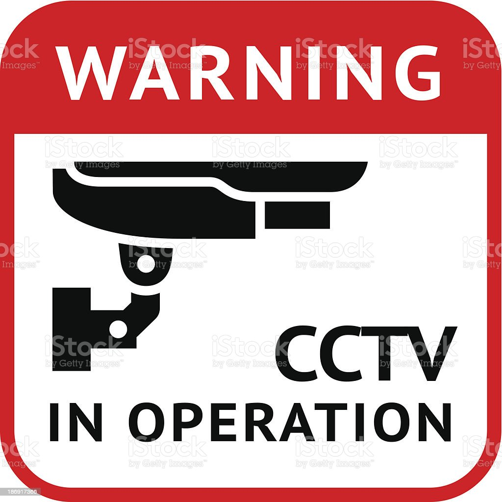 CCTV, pictogram security camera royalty-free stock vector art