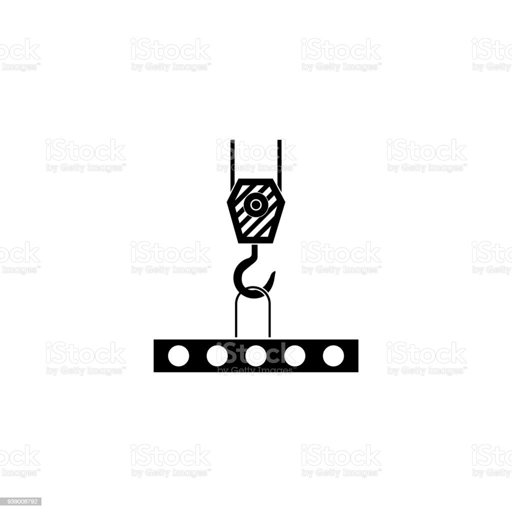 Pictograph of crane hook illustration