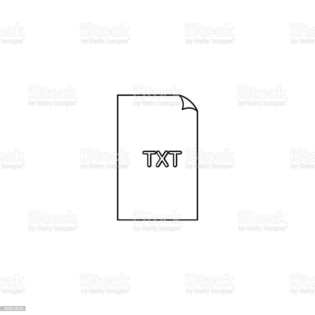 Pictograph Of Format File Txt Extension For Template Logo