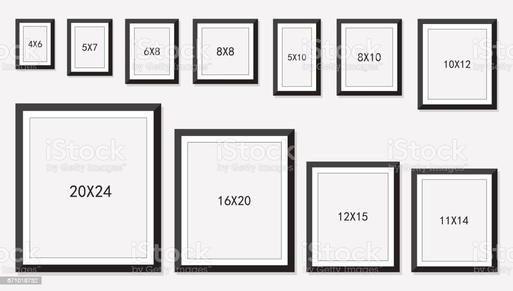 picture and photo frames size stock vector art more images of archival 671018732 istock. Black Bedroom Furniture Sets. Home Design Ideas