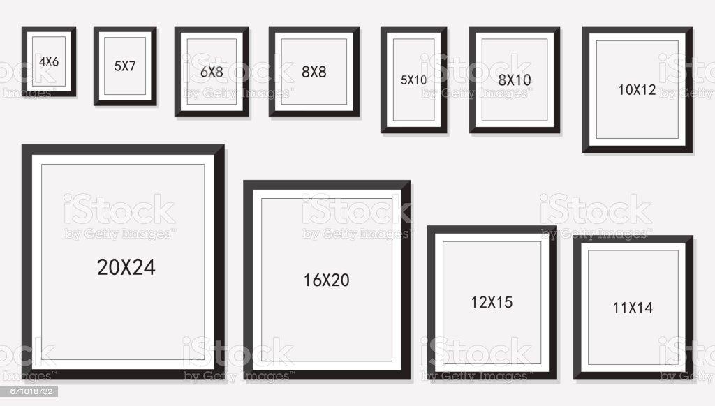 tamaño de marcos de imagen y Foto - ilustración de arte vectorial